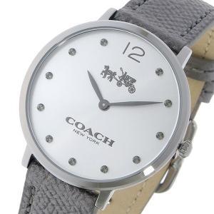 コーチ COACH クオーツ 腕時計イーストングレー/シルバー レザーウォッチレディース14502686