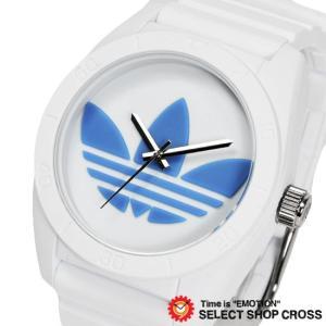 アディダス adidas 腕時計 SANTIAGO サンティアゴ ホワイト 白 ブルー ADH2921 おしゃれ...