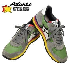 Atlantic STARS アトランティックスターズ 2017年春夏 2017SSモデル ANTARES アンタレス グリーン グレー CI 89A 41 42 44 45 メンズ スニーカー ポイント消化|cross9