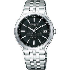 シチズン CITIZEN エクシード EXCEED エコ・ドライブ電波 時計 メンズ 腕時計 as7040-59e シルバー ブラック 黒 おしゃれ ポイント消化 cross9