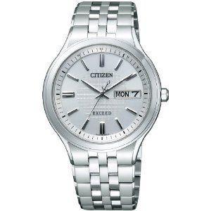 シチズン CITIZEN エクシード EXCEED エコ・ドライブ電波 時計 メンズ 腕時計 at6000-52a シルバー シルバー おしゃれ ポイント消化 cross9