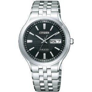 シチズン CITIZEN エクシード EXCEED エコ・ドライブ電波 時計 メンズ 腕時計 at6000-52e ブラック 黒 ブラック 黒 おしゃれ ポイント消化 cross9
