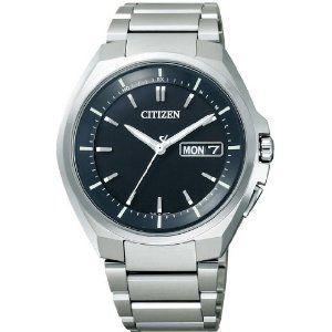 シチズン CITIZEN アテッサ ATTESA エコ・ドライブ電波 時計 メンズ 腕時計 at6010-59e シルバー ブラック 黒 おしゃれ ポイント消化 cross9