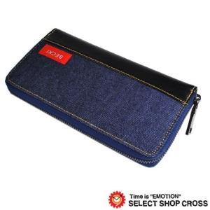 ベッキーからラウンドジップの長財布を入荷!! デニムを使用したカジュアルデザイン♪ 内側は広々したマ...