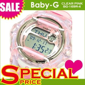 【名入れ対応】 【3年保証】 CASIO カシオ ベビーG Baby-G 腕時計 レディース 人気 BG-169R-4 BG-169R-4DR クリアピンク 海外モデル  ポイント消化 あすつく|cross9