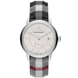 BURBERRY バーバリー 腕時計 メンズ クオーツ 5気圧防水 デイトカレンダー スモールセコンド チェック柄ストラップ スイス製 BU10002 おしゃれ ポイント消化 cross9