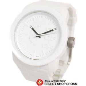 ディーゼル DIESEL diesel メンズ 腕時計 アナログ DZ1436 ウレタンベルト ホワイト 白 父の日 おしゃれ ポイント消化 あすつく|cross9