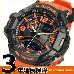 G-SHOCK CASIO カシオ Gショック メンズ 腕時計 SKY COCKPIT スカイコックピット GA-1000-4ADR ブラック×オレンジ 海外モデル