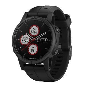ガーミン GARMIN fenix 5s Plus Sapphire Black スマートウォッチ 腕時計 正規品 010-01987-77 ポイント消化|cross9