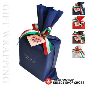 ギフトラッピング yg-tricofr 袋&フレンチトリコロールリボン 選べる4カラー ブルー ブラウン ブルー レッド ホワイト 白 ポイント消化 cross9