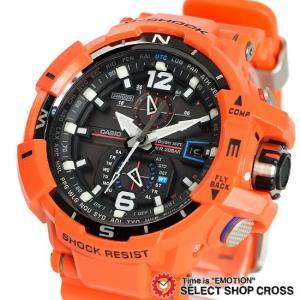 CASIO カシオ G-SHOCK Gショック 電波 ソーラー メンズ 腕時計 SKY COCKPIT スカイコックピット 腕時計 GW-A1100R-4ADR オレンジ 海外モデル