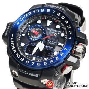 【3年保証】 カシオ G-SHOCK Gショック GULFMASTER ガルフマスター メンズ 電波 ソーラー 腕時計 アナデジ GWN-1000B-1BDR ブラック 海外モデル GWN-1000B-1B|cross9