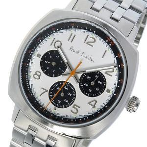 ポールスミス PAUL SMITH アトミック ATOMIC クオーツ メンズ 腕時計 P10044 ホワイト 白シルバー おしゃれ ポイント消化|cross9