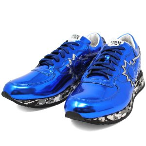 アーバンサン URBAN SUN ANDRE 125 アンドレ BLUE ブルー メタリック メンズ スニーカー 靴 URBANSUN 39 40 41 42 43 44 45|cross9