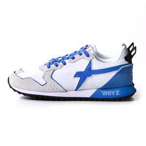ウィズ W6YZ JET ローカット スニーカー シューズ イタリア 靴 メンズ JUST SAY WIZZ 2019SS 1N06 ホワイト ブルー 41 42 43|cross9
