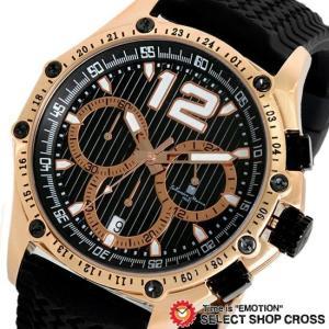 サルバトーレマーラ Salvatore Marra クロス限定 メンズ クロノグラフ ウォッチ シリコン ブラック 黒ピンクゴールド SM14116-PGBK 腕時計 おしゃれ あすつく|cross9
