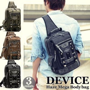 ボディバッグ メンズ 大きめ ブランド 帆布 大容量 バッグ ワンショルダー DEVICE 斜めがけ A4 かばん 鞄 新生活|crosscharm