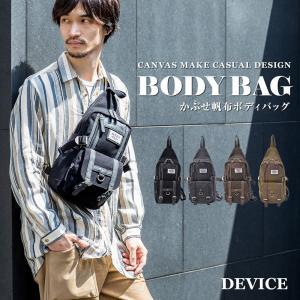 ボディバッグ ショルダーバック DEVICE メンズ キャンバス デバイス ボディーバック 帆布バッグ ブラック 黒 ブランド|crosscharm