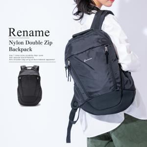 リュック リュックサック メンズ レディース バッグ かばん メッシュ ナイロン 軽量 おしゃれ 大容量 ブランド Rename スポーティ ナップサック バックパック|crosscharm