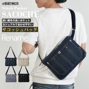 サコッシュ ショルダーバッグ メンズ バック 鞄 斜め掛け シンプル 軽量 デニム 帆布|crosscharm