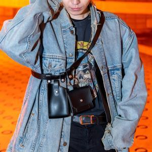 Rename 合皮 スナップベルトバッグ