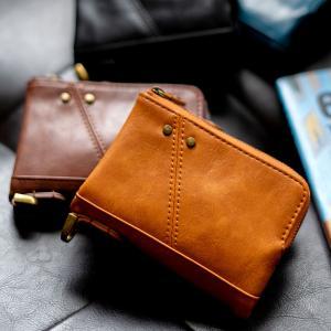 二つ折り財布 さいふ コインケース メンズ 財布 ウォレット PUレザー ブランド ギフト 男性 折財布 短財布|crosscharm