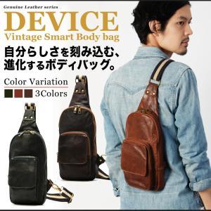 ボディバッグ ボディーバッグ メンズ 本革 レザー DEVICE バック かばん 鞄|crosscharm