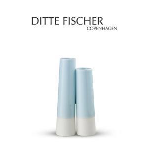 花瓶 北欧 デンマーク おしゃれ スタイリッシュ シンプル  ハンドメイド デザイン Ditte Fischer Copenhagen 二輪挿し|crossed-lines