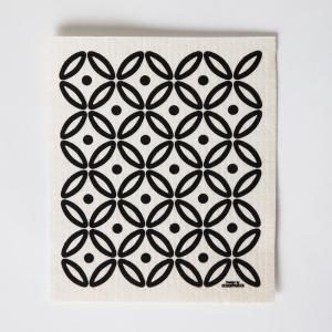 スポンジワイプ 2枚セット キッチンおしゃれ かわいい モダ ンふきん 北欧 ギフト ノルウェーデザイン Designparken:  「Art Deco」 crossed-lines
