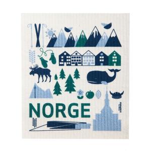 スポンジワイプ 2枚セット キッチンおしゃれ かわいい モダ ンふきん 北欧 ギフト ノルウェーデザイン Designparken:  : スポンジワイプ「Norge」 crossed-lines
