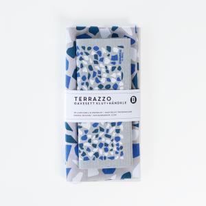 キッチンタオル スポンジワイプ セット おしゃれ かわいいギフト プレゼント 北欧 ノルウェー デザイン Designparken:: ギフトセット「Terrazzo」 crossed-lines
