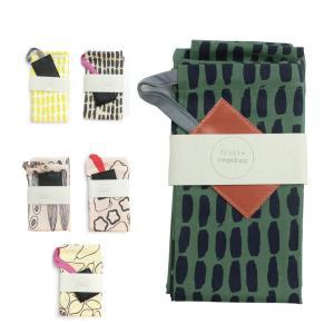 巾着袋  コットン フィンランド テキスタイル 色鮮やか Lilli U キュウリ ベジバッグ「キューカンバー」|crossed-lines