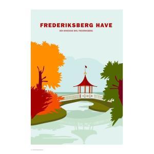 Wonderhagen ポスター「Frederiksberg Gardens」|crossed-lines