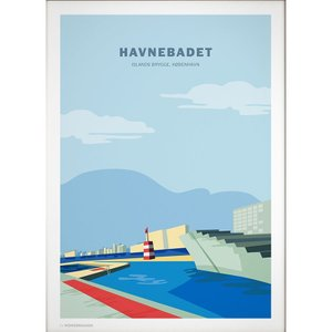 Wonderhagen ポスター「Harbour Baths CPH」|crossed-lines