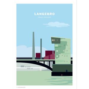 Wonderhagen ポスター「Langebro」|crossed-lines