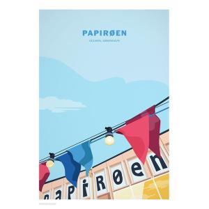 Wonderhagen ポスター「Papiroeen - Paper Island」|crossed-lines