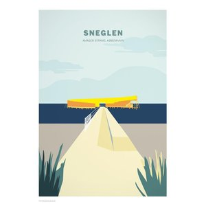 Wonderhagen ポスター「Sneglen」|crossed-lines