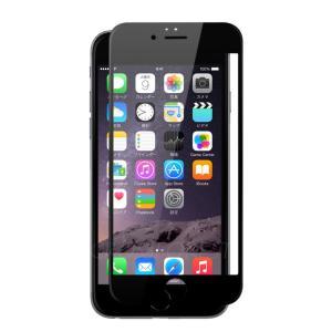 クロスフォレスト iPhone6(S)用 液晶保護 ガラスフィルム フルカバー ブラック crossforest