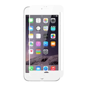 クロスフォレスト iPhone6(S) Plus用 液晶保護 ガラスフィルム フルカバー ホワイト crossforest