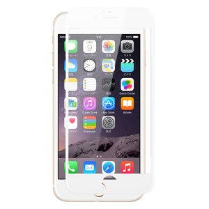 クロスフォレスト iPhone7用 液晶保護 ガラスフィルム 3Dフルカバー(全面)タイプ ホワイト crossforest