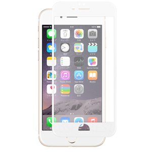クロスフォレスト iPhone6(S)用 液晶保護 ガラスフィルム 3Dフルカバータイプ アンチグレア ホワイト crossforest