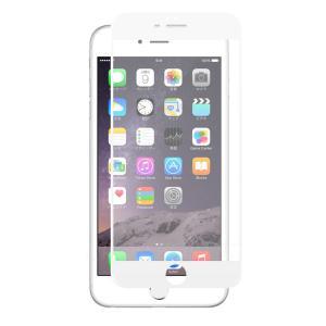 クロスフォレスト iPhone6(S) Plus用 液晶保護 ガラスフィルム 3Dフルカバー アンチグレア ホワイト|crossforest