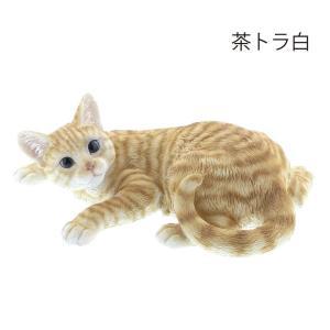 猫 置物  壁にのぼって遊ぶ(茶トラ白)QY-087Y 可愛い インテリア オブジェ ねこ ネコ グ...