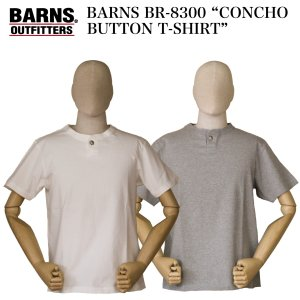 """BARNS  BR-8300 """"CONCHO BUTTON T-SHIRT""""