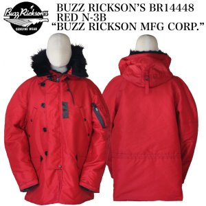 "BUZZ RICKSON'S BR14448 RED N-3B ""BUZZ RICKSON MFG CORP."" F-89 SCORPION crossover-co"