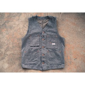 TCBjeans TCB jeans TCB TABBYS VEST Covert Brown タビーズベスト TCBジーンズ|crossover-co