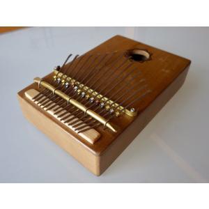 カリンバ(親指ピアノ) 木箱L 15  crossroad-cgsk