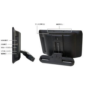 ポータブルDVDプレーヤー 車載 9インチ DV090AAA 本体画面9インチ以上 ヘッドレスト取付キット付 リアモニター CPRM対応 ヘッドレストモニター 安い[DreamMaker]|crossroad2007|16