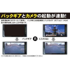 ルームミラーモニター 9インチ 「MM090A」 車載モニター フルミラー バックカメラ連動 24V対応 車用モニター[DreamMaker] crossroad2007 08