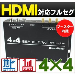 車載 4×4 フルセグチューナー 「TUF005」 地デジチューナー 車載モニター カーテレビ カーTV フルセグテレビ 地デジテレビ ワンセグ HDMI[DreamMaker]|crossroad2007